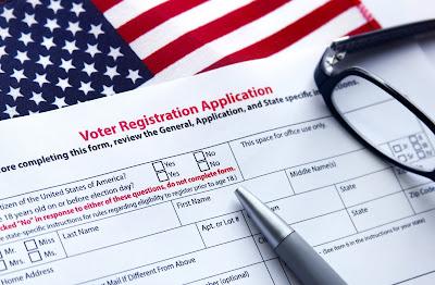 image of a voter registration form.