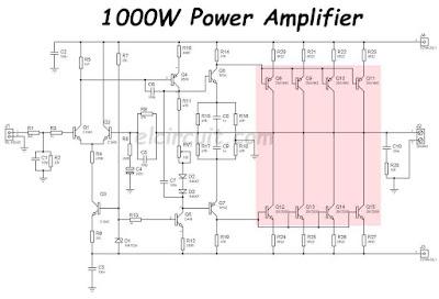 electronic circuit tip41 tip42 amplifier diagram 4 channel car amplifier diagram