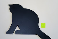 """Körper: Hold It – Precoius """"Schwanz, schwarz Metall Katze Balance Aufhänger"""
