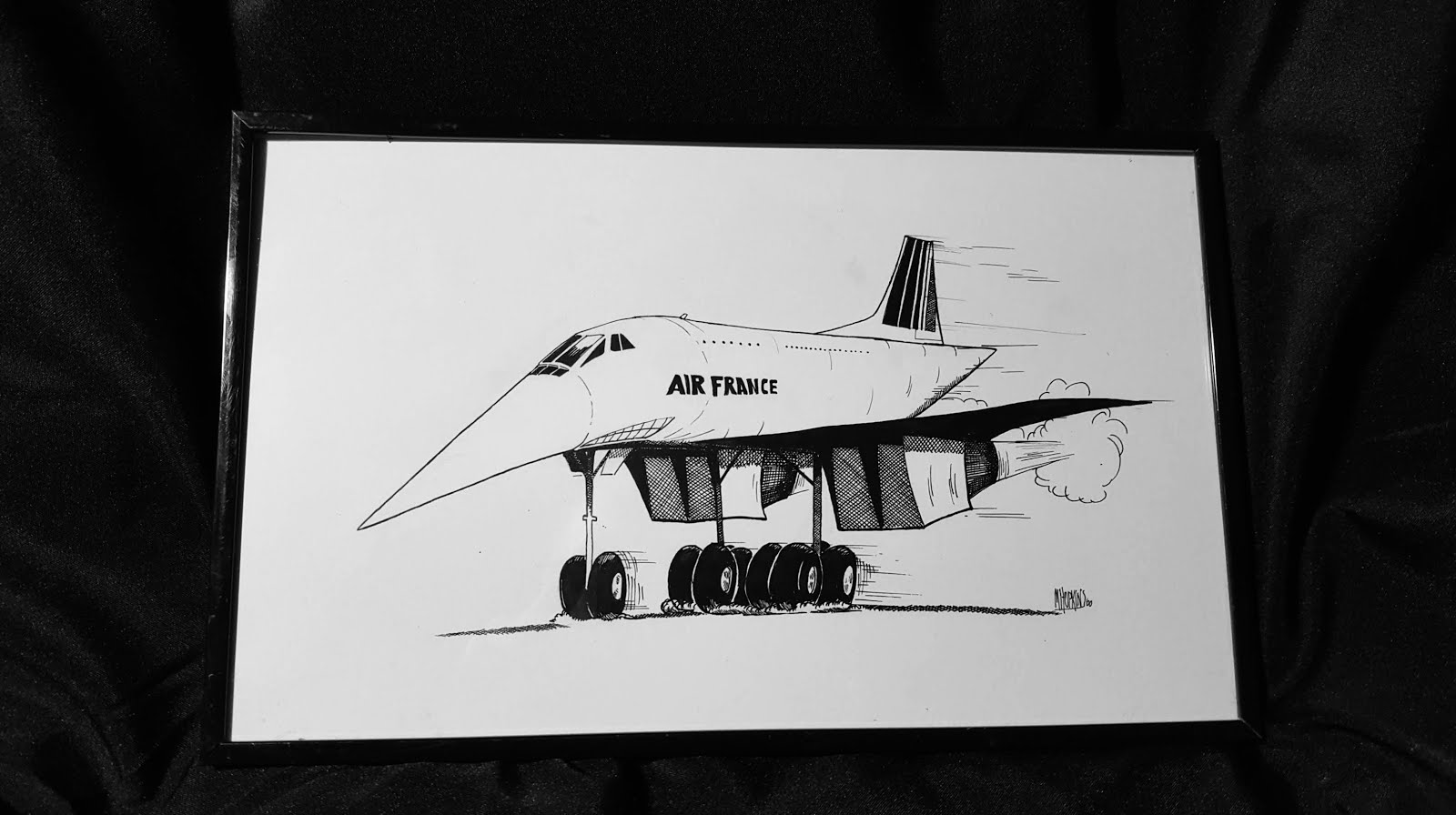 Concorde SST Aviation Caricature Available on Ebay!