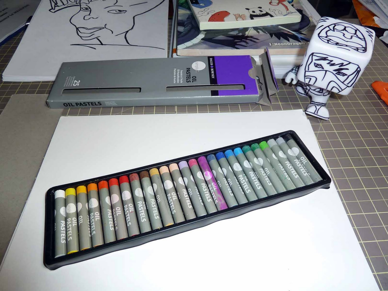 kid sketches daler rowney simply oil pastels set of 25 quick test