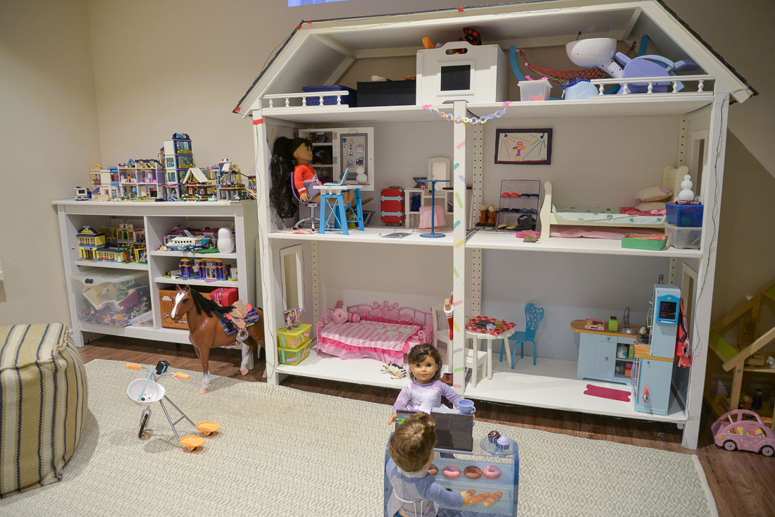 diy dollhouse, ikea dollhouse, ikea Ivar hack, american girl dollhouse