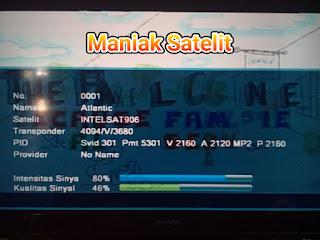 Cara Tracking Satelit Intelsat 906 Dan Lock Siaran AFN Sport