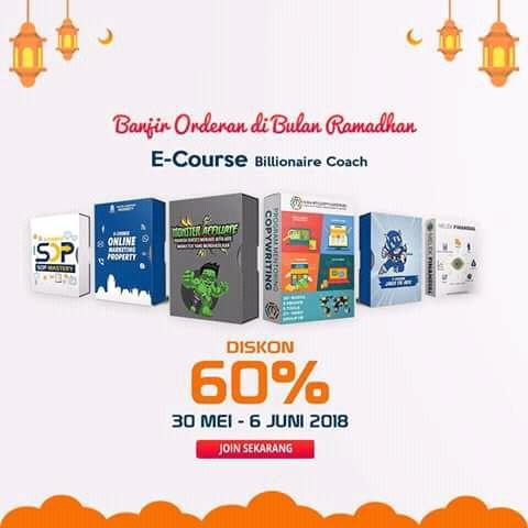 Diskon 6 eCourse Billionaire Coach