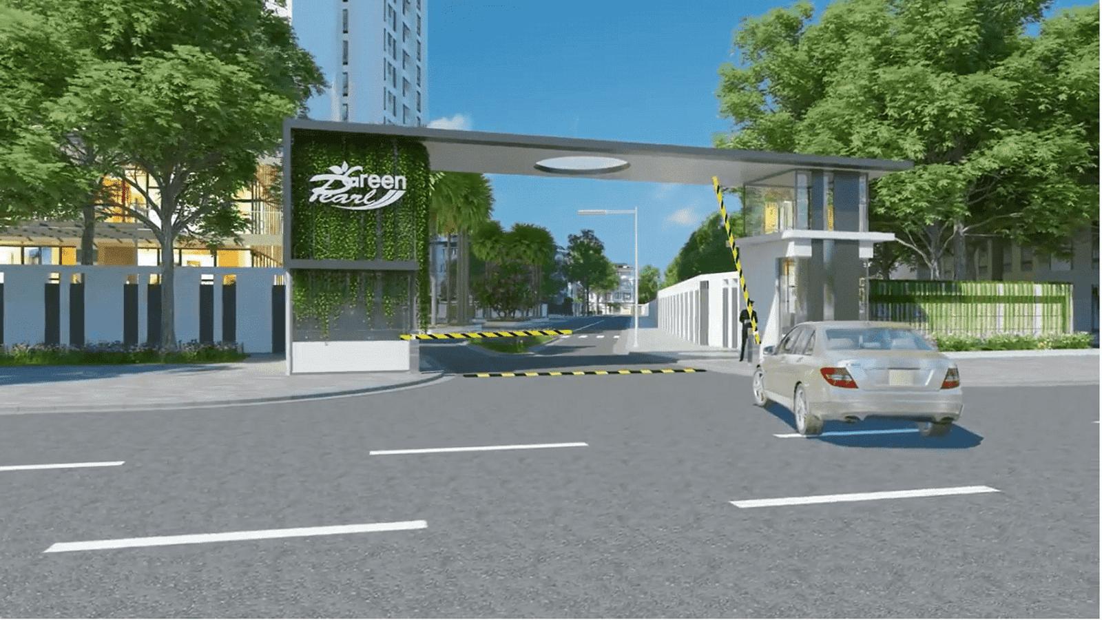 Cổng dự án Green Pearl 378 Minh Khai