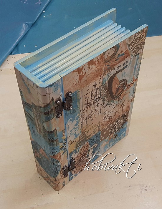Hobi Vakti Ahşap Boyama Kitap Kutu