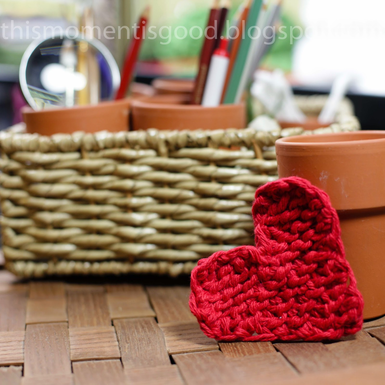 Simple Knitted Booties Pattern : Loom Knitting by This Moment is Good!: LOOM KNIT HEART - FREE PATTERN