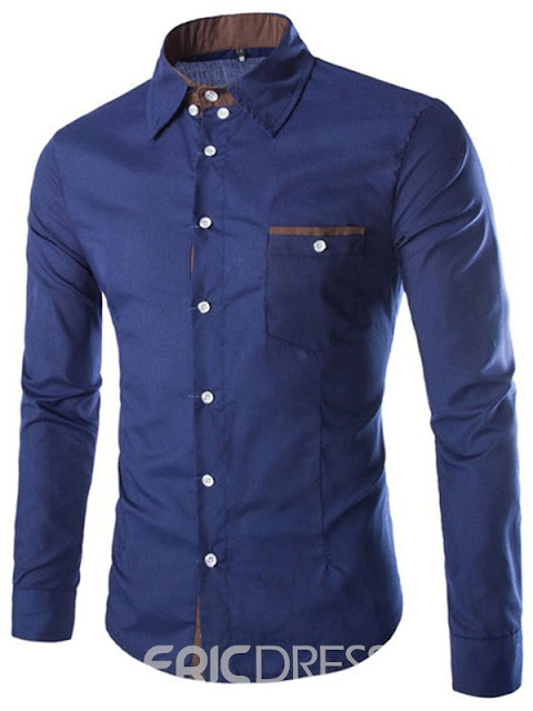 Plain Anti-Wrinkle Slim Men's Shirt