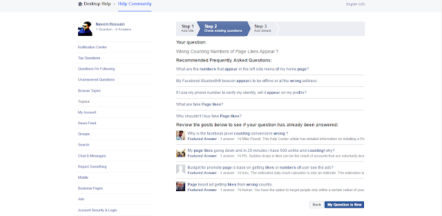 Facebook Community continue