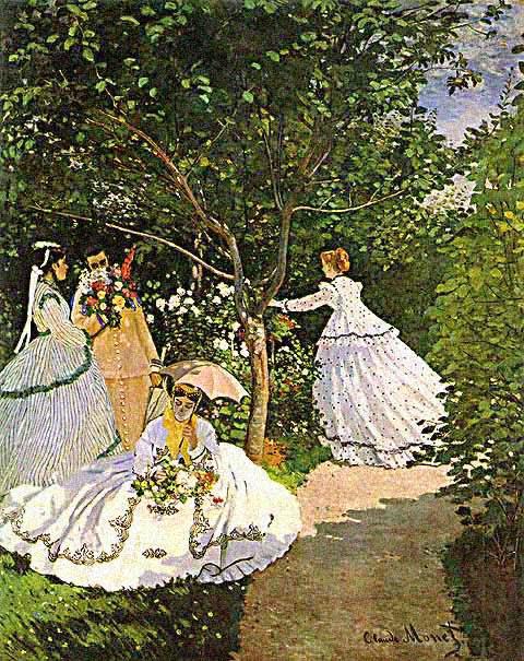 Mulheres no Jardim - Pinturas de Monet Claude | O Pai do Impressionismo