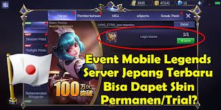 Cara Mendapatkan Skin Gratis Dari Event Mobile Legends Server Jepang