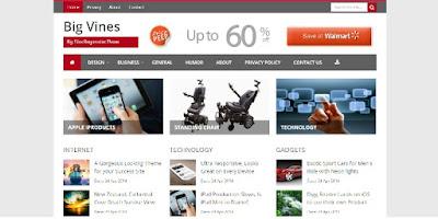 7 Template Blog Berita Simpel Fast Responsive seo Mobile Friendly