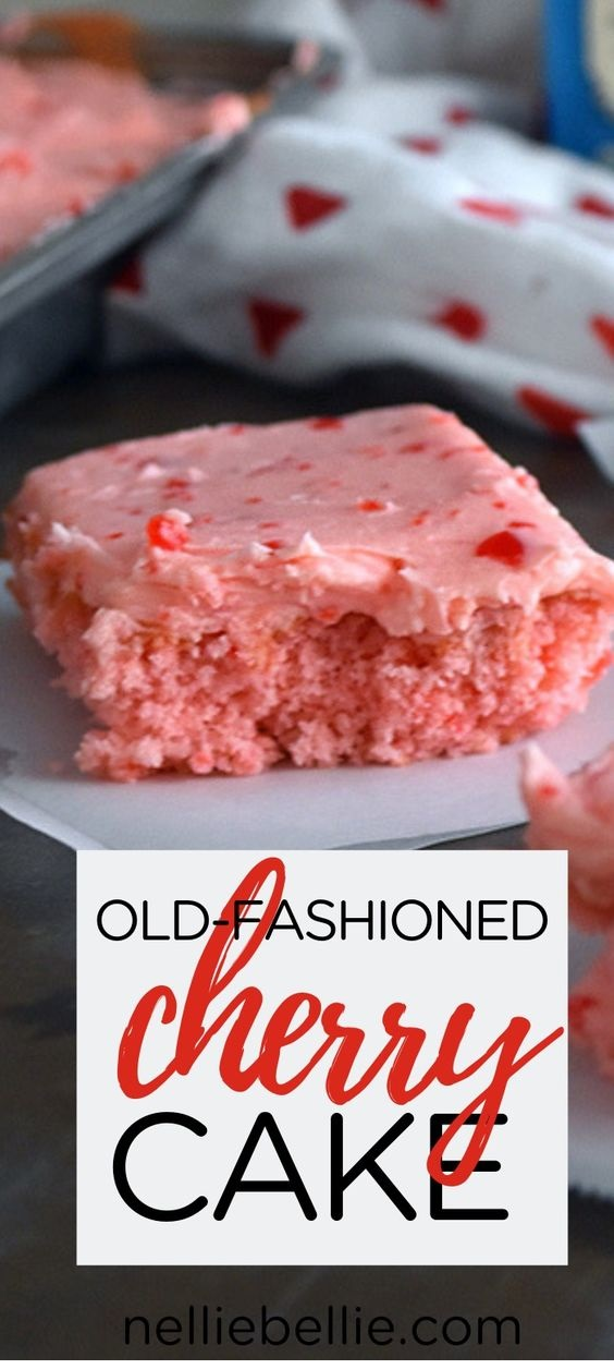 Cherry Cake With Cherry Frosting