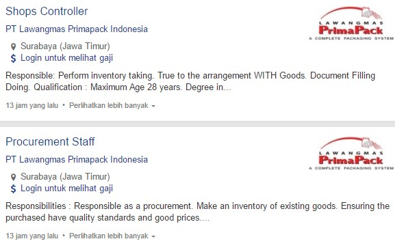 Terbaru 2020 - Lowongan Kerja Probolinggo PT Lawangmas Primapack Indonesia