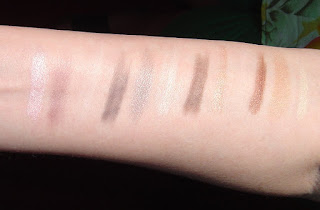 Mineral Fusion Cosmetics Eye Shadow Trios Review (Diversity, Stunning, Espresso Gold, Sultry) in brighter light swatches.jpeg