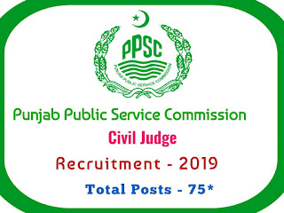 PPSC Civil Judge Recruitment 2019