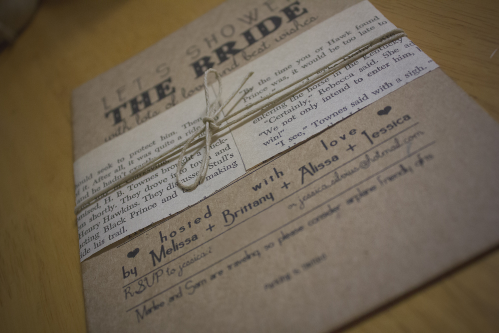 I Wanted To Be Sure We Incorporated That Love Into The Shower Decor From Start Finish Here Are Invitations Made With Book Theme In Mind