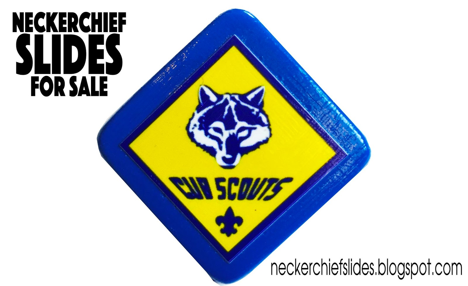 Cub Scout Logo Diamond Shaped Cub Scout Neckerchief Slides For