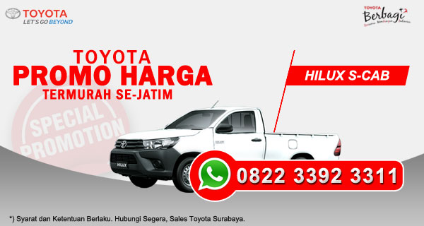 Promo Harga Toyota Hilux S-Cab Surabaya