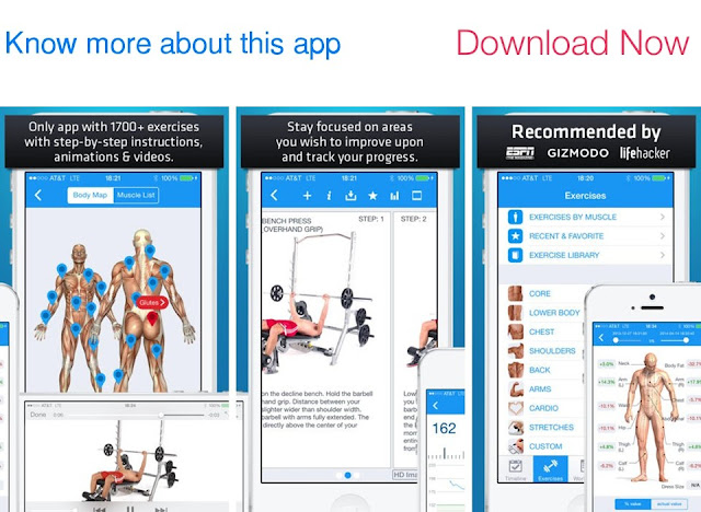 Download Fitness Buddy : 1700+ Exercise Workout Trainer and Workout Journal for iPhone