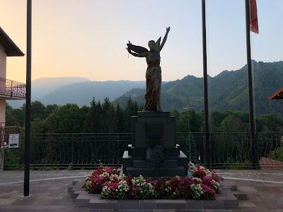 A war monument in Castione della Presolana.