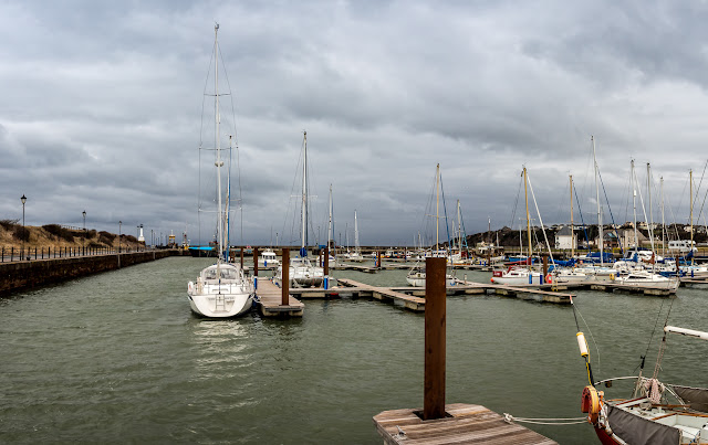 Photo of Maryport Marina at high tide on Saturday