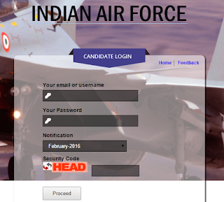 careerairforce admit card