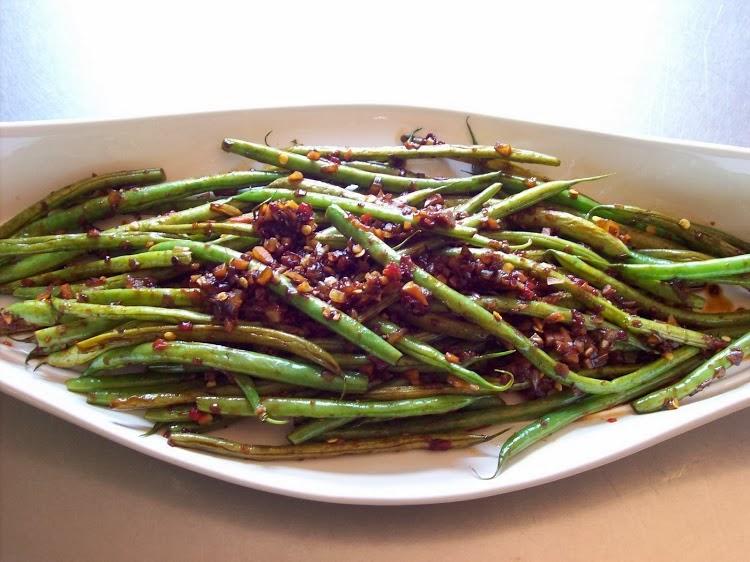 red or green?: Schezwan Green Beans