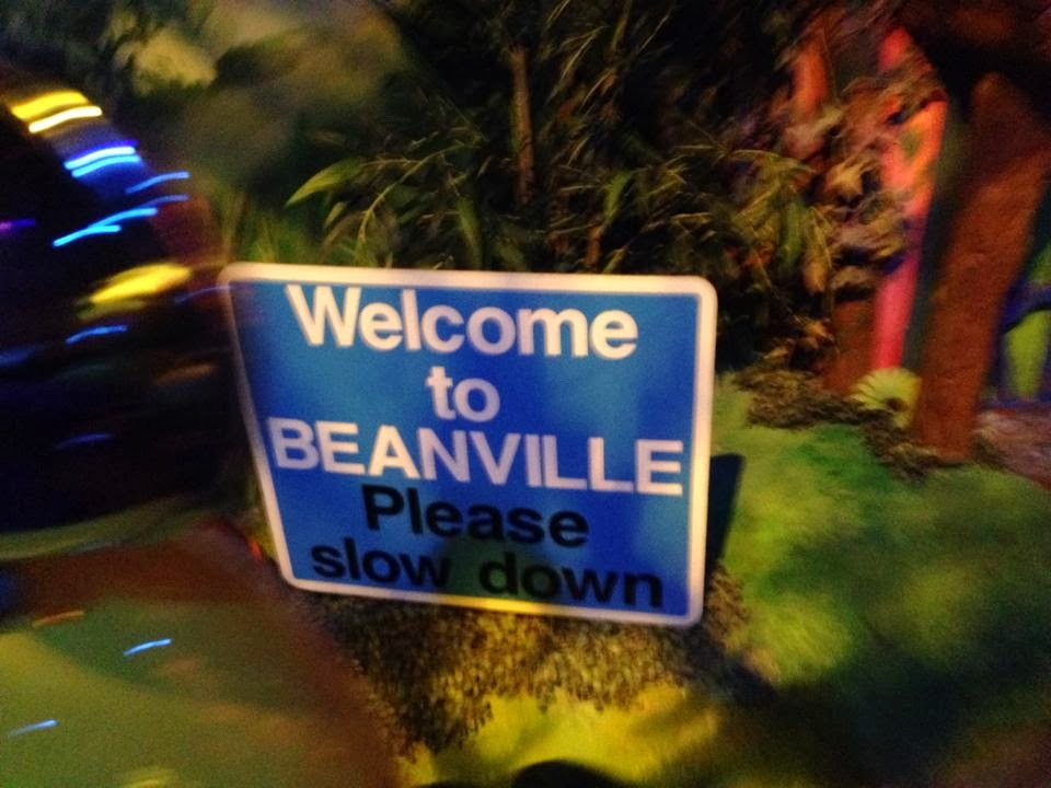 Welcome to Beanville road sign
