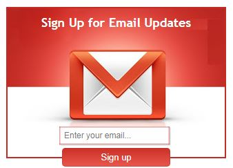Email Subscription widget style 1