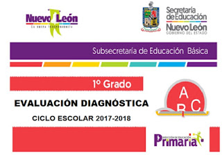 Exámenes Diagnostico de 1° a 6° de Primaria 2017-2018
