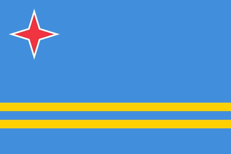 Logo Gambar Bendera Negara Aruba PNG JPG ukuran 800 px