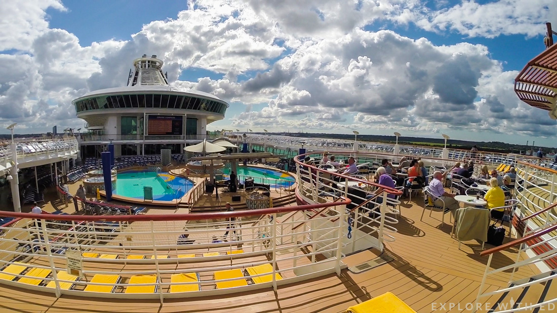 Pool deck on Explorer of the Seas, Royal Caribbean