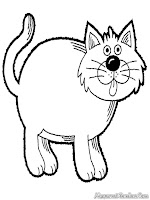 Mewarnai Gambar Kucing Diwarnai