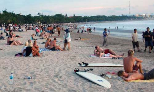 Located on the western side of the isle BeachesinBali: kuta beach