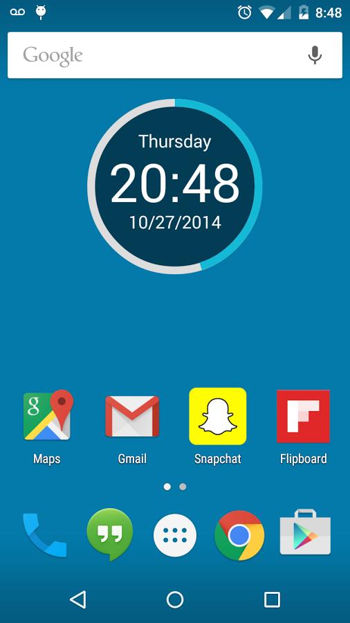 Round Clock Widget TAS - Android Featured App ~ Android