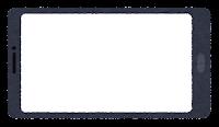 スマートフォン型の座布団(黒・横長3)