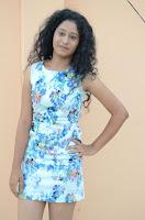Actress Priyankha Stills in Floral Short Dress at Golmal Gullu Movie Pressmeet 0197.JPG