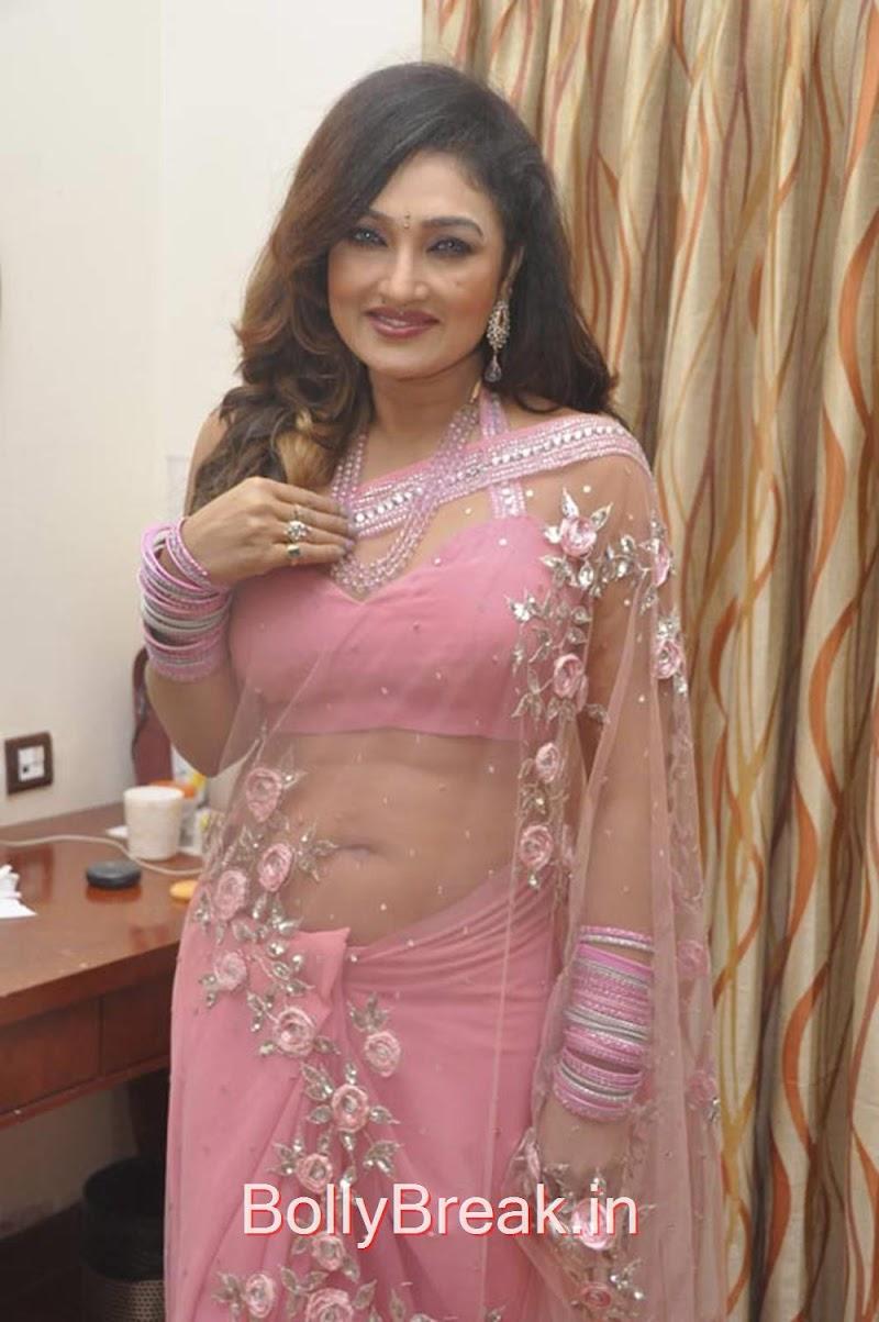Ramya Sri Stills in Light Pink Saree