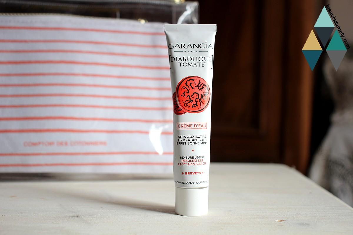 avis et test soin visage diabolique tomate crème d'eau Garancia