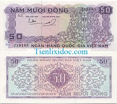 50 đồng việt nam cộng hòa 1966