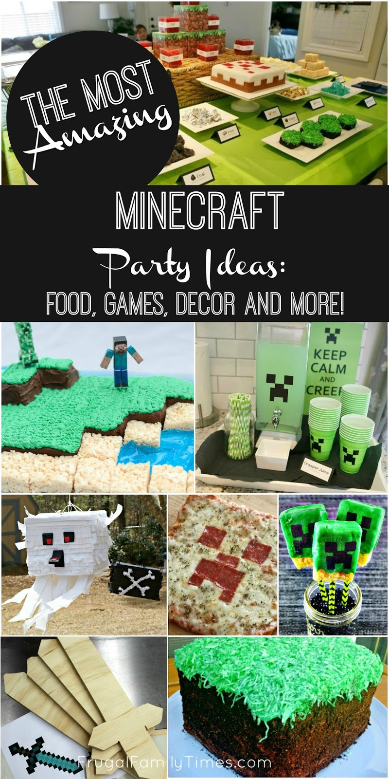 the most amazing minecraft party ideas crafts food games decor