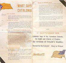 What says Catalonia con fecha del 11 de septiembre