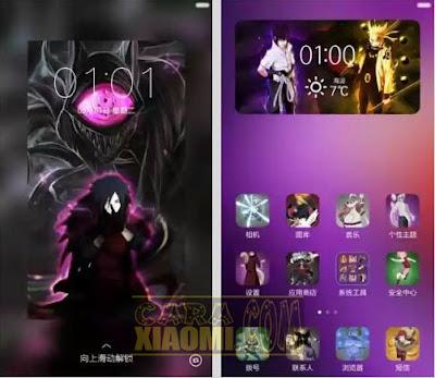 Kumpulan Tema Naruto For Xiaomi MIUI Mtz Update Themes Terlengkap