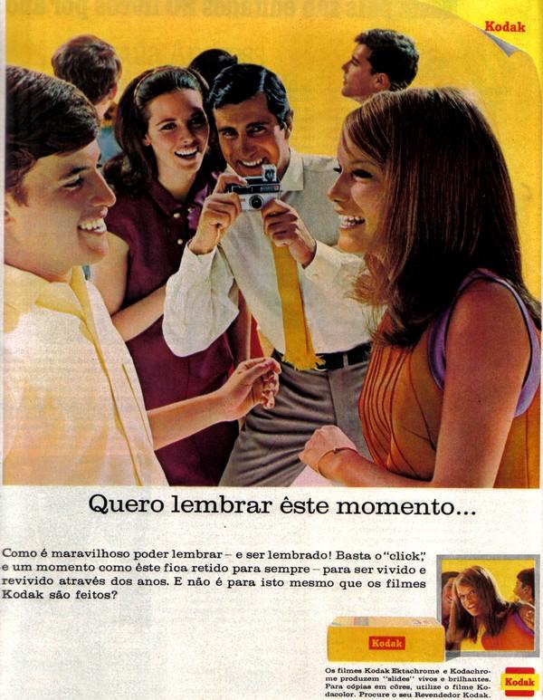 Campanha da Kodak para promover sua linha de filmes fotográficos nos anos 60