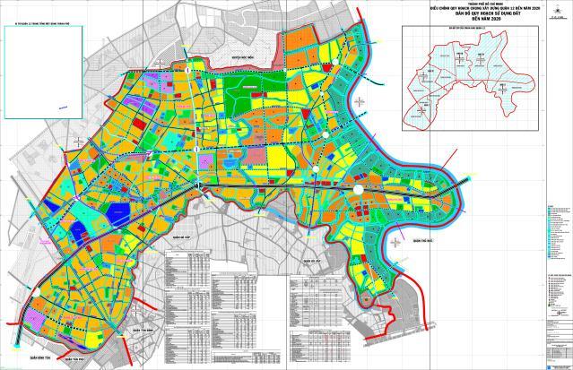 Quy hoạch KCN Tân Thới Hiệp, phường Hiệp Thành, Q12, HCM