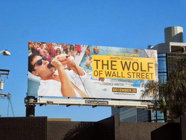 The Wolf of Wall Street movie billboard