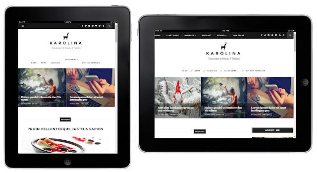 Karolina Clean Responsive Premium Blogger Template