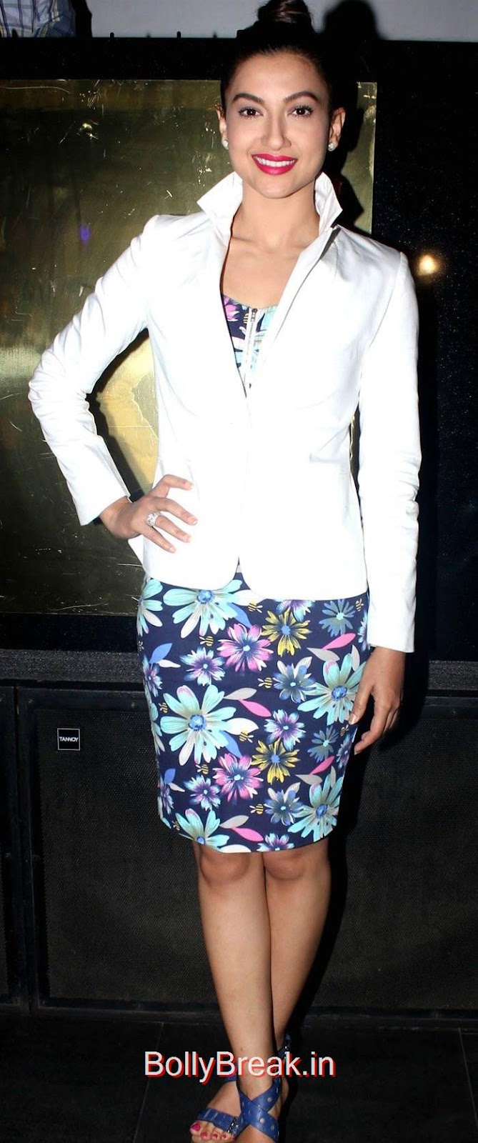 Gauhar Khan, Sofia Hayat hot Pics from her album Launch in black Dress