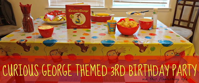Curious George Themed 3rd Birthday Party